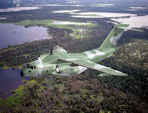 Brazilian Air Force's KC-390 tactical military transport aircraft