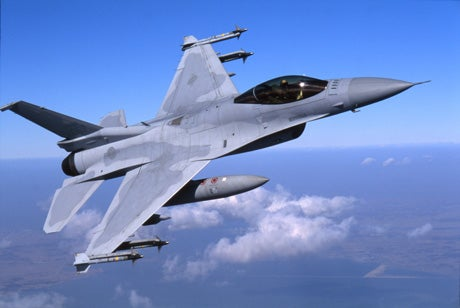 Lockheed Martin-built F-16 Fighting Falcon aircraft