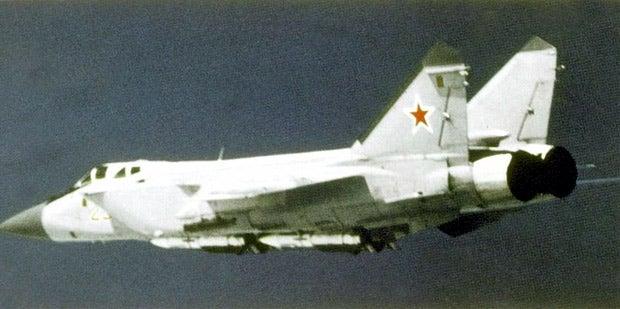 Russian MiG-31 aircraft