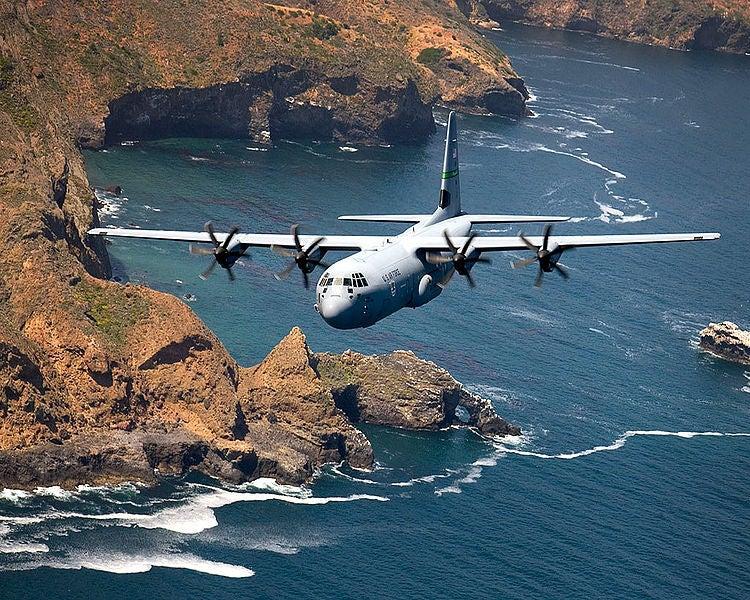 C-130 Hercules transport aircraft