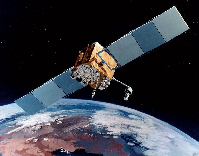 artistic impression of the US Air Force's Block IIF GPS satellite