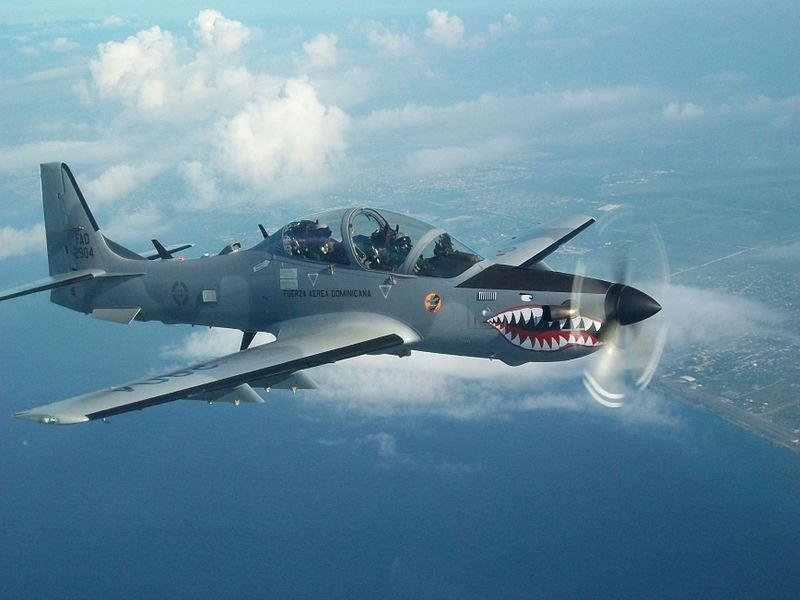Dominican Air Force's A-29B Super Tucano aircraft