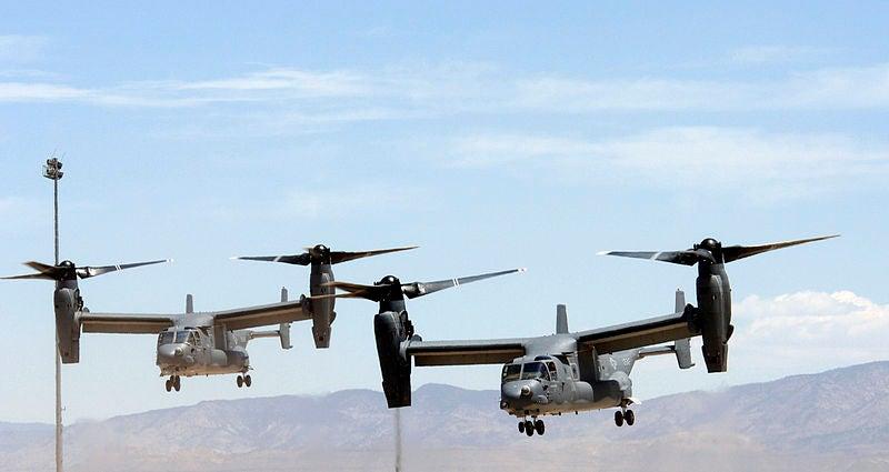 Osprey aircraft'