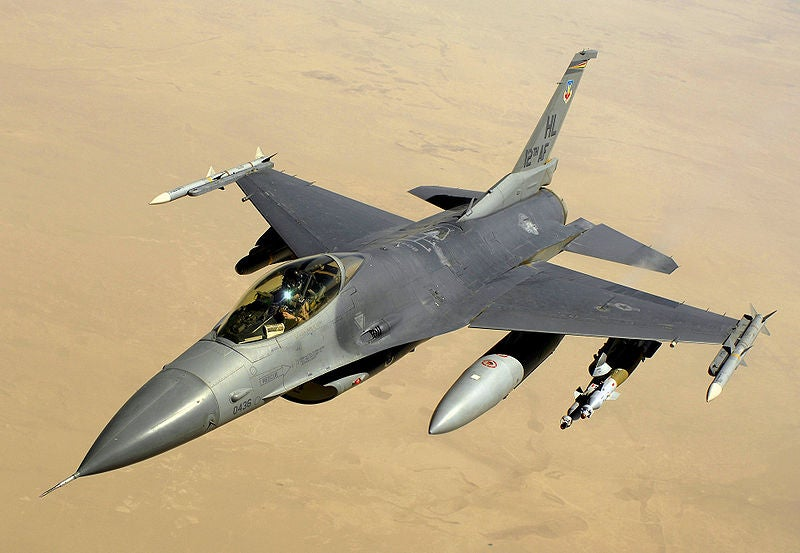US Air Force Block 40 F-16 Fighting Falcon aircraft