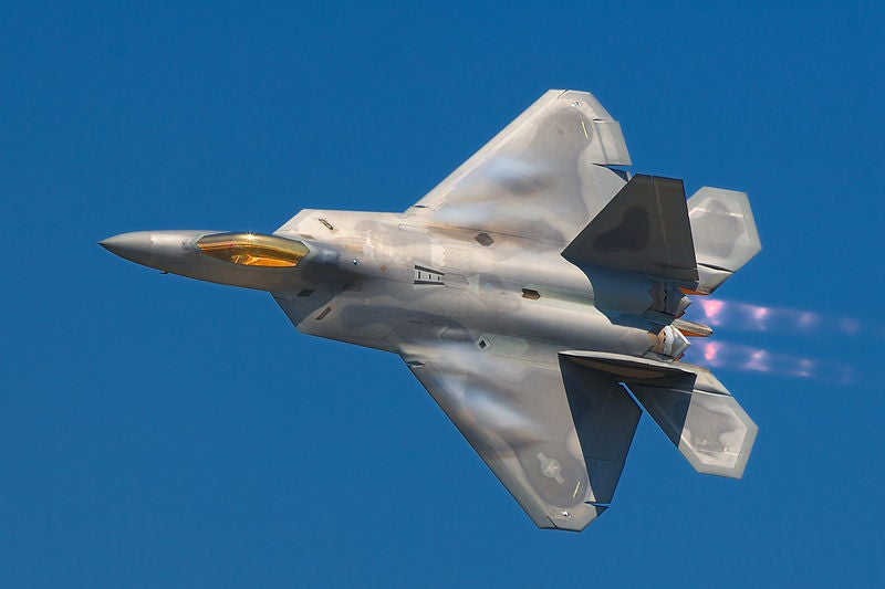 Lockheed Martin-built F22A Raptor fighter jet