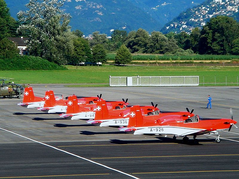 Pilatus PC-7 MK II basic trainers