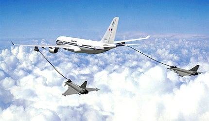 The private sector will provide the RAF's air-to-air refuelling and air transport capability