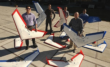 Dogfighting unmanned drones