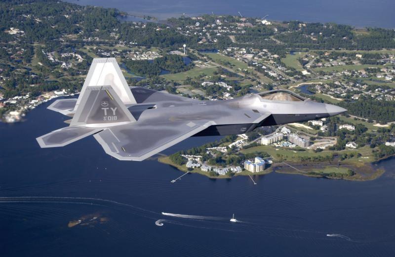 Lockheed Martin-built F-22 Raptor aircraft.