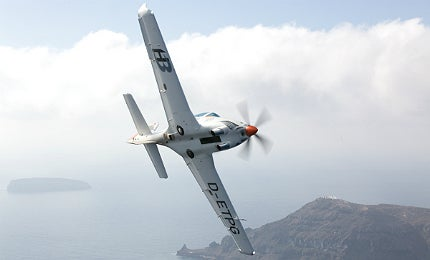 Grob G 120TP is a two-seat, single-engine military trainer aircraft