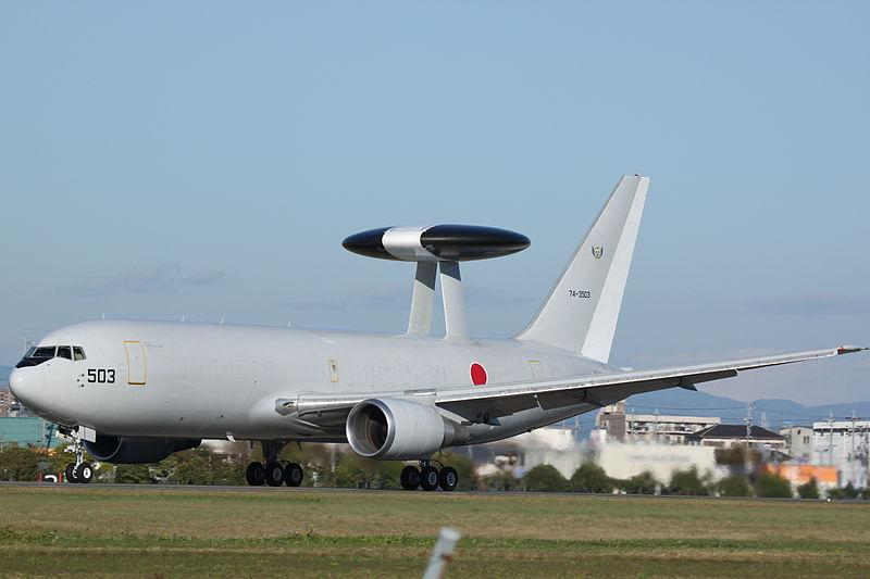 E-767 AWACS aircraft