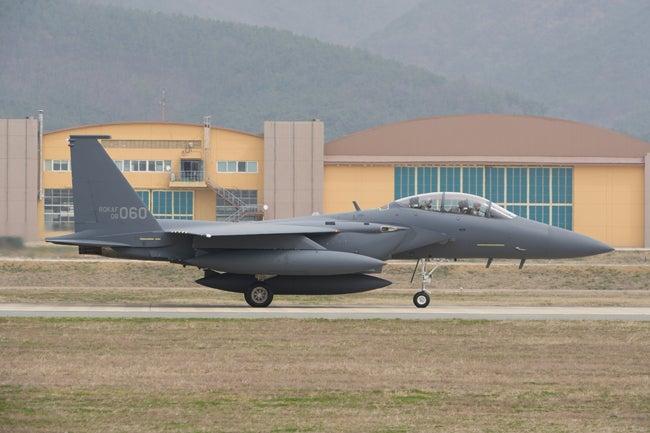 ROKAF F-15K Slam Eagles jet fighter