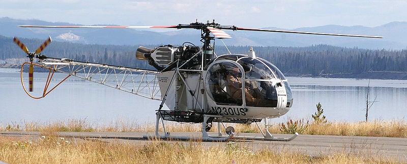 SA 315B Lama helicopter