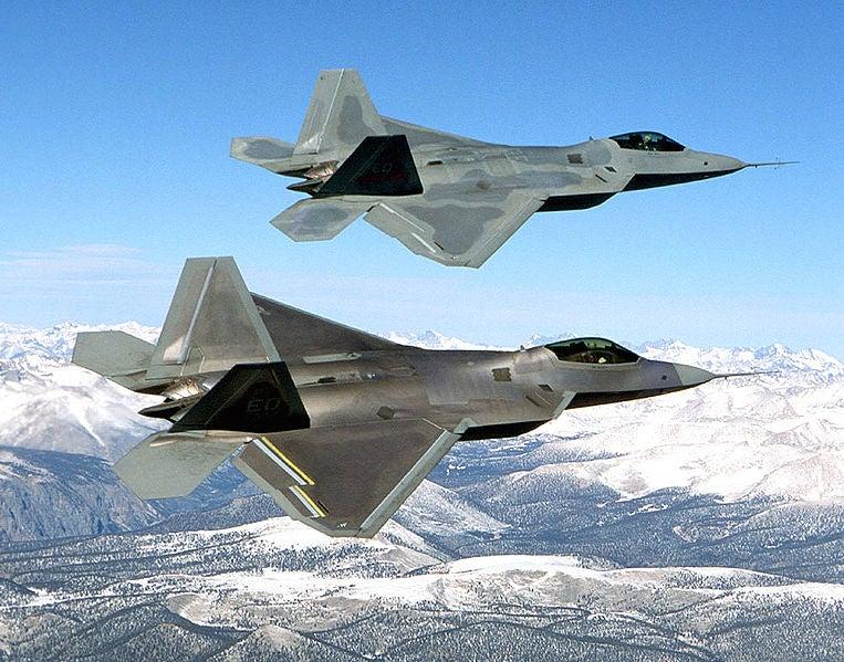Two USAF's F-22 Raptors