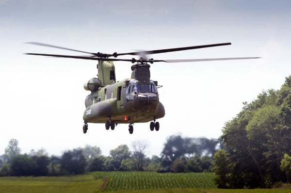 CH-147F Chinook helicopter