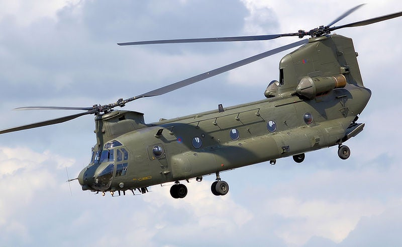 Royal Air Force's Chinook HC2 helicopter