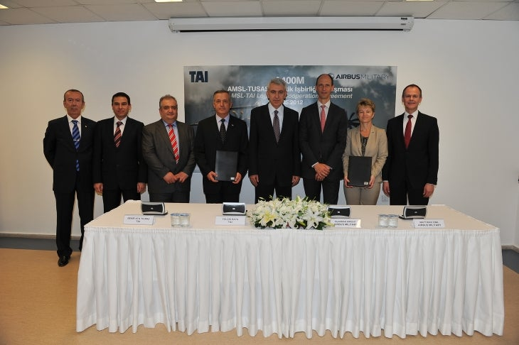 Airbus Military and TAI's officials