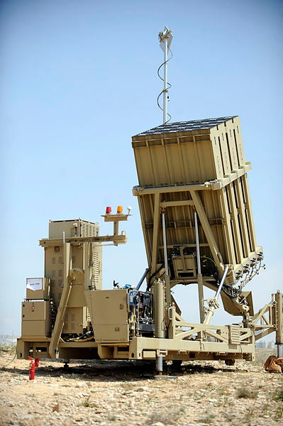 sraeli Air Force's Iron Dome battery