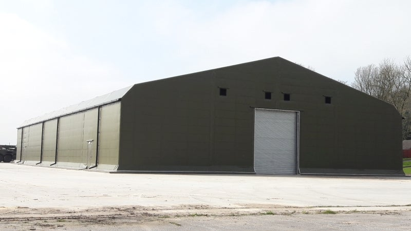 Insulated building featuring Rubb's thermohall technology installed at Clive Barracks