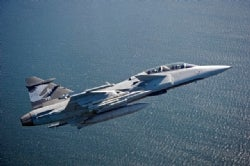 Saab Gripen E-launch features Oxley lights