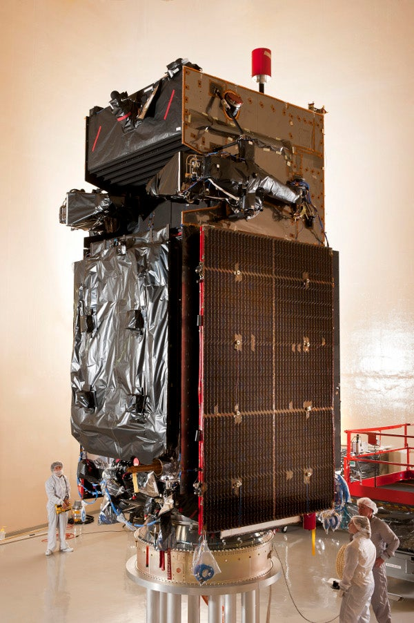 US Air Force (USAF) Space Based Infrared System (SBIRS) geosynchronous (GEO-2) spacecraft