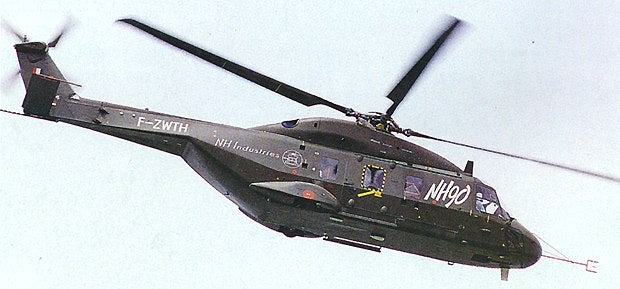 French NH90 medium utility helicopter