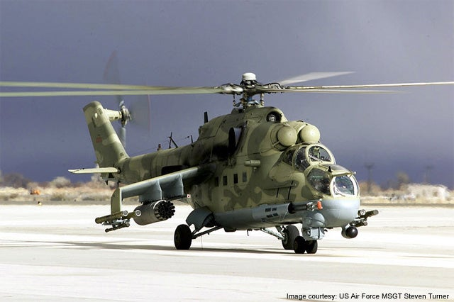 US operated Mi-24P Hind-F