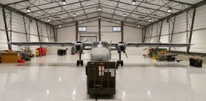 Rubb delivers military aircraft hangar