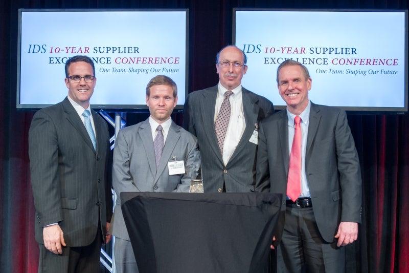Oxley receives Raytheon 3-star award