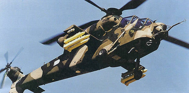 Rooivalk helicopter