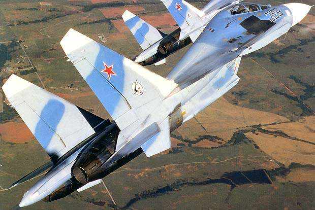 Su-27 front-line fighter aircraft